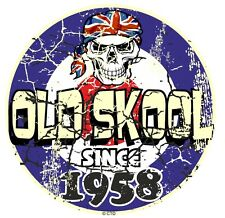 Distressed Aged OLD SKOOL Since 1958 Mod Style Target Motorcycle car sticker