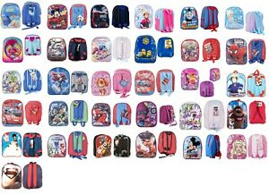 New Kids Boys Girls Disney Theme Cartoon Character School travel Backpack
