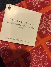 "Pottery Barn Paloma Kantha Paloma Kantha Bolster Pillow Cover 8 X 30"" New India"