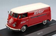 Volkswagen T1 Van Publicitaire Kicker 1962 Red White Schuco 1:43 SH3692