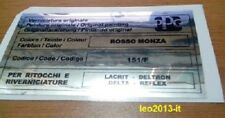 Lancia delta hf integrale 4wd 8 valvole adesivo colore ppg rosso monza 151F