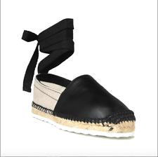 New Pierre Hardy Canvas & Leather Ankle Tie Espadrille Sandals Sz 39 US 8 $425