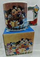 Mickey Mouse Christmas Carol Mug Carolers Scrooge McDuck Applause Walt Disney