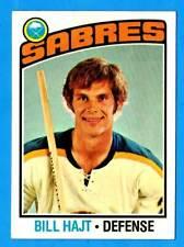 1976-77 Topps #128 BILL HAJT (ex) Buffalo Sabres