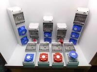 RCD PROTECT IP44 WATERPROOF OUTDOOR SOCKET 16, 32 AMP 240, 440 VOLT WORKSHOP