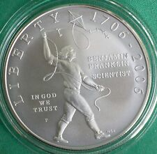 2006 Ben Franklin Scientist BU Silver Dollar Commemorative Coin ONLY $1