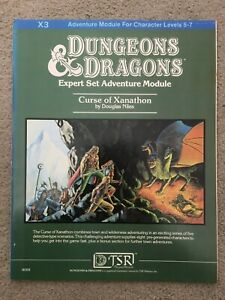 Dungeons And Dragons - Expert Set Adventure Module - Curse Of Xanathon #9056