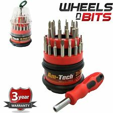 NEW Small 31pc SCREWDRIVER BIT SET TOOL DRIVER BITS HEX PHILLIPS TORX BIT TOOLS