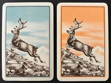 Pair of Vintage Swap/Playing Cards - BEAUTIFUL DEER - Mint Cond