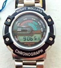NOS Citizen Night Rollers alarm chronograph watch, new old stock WORKING