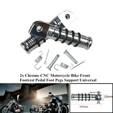2xChrome Motorcycle Bike Front Rear Foot Pegs Footrest Folding Pedal Holder Part