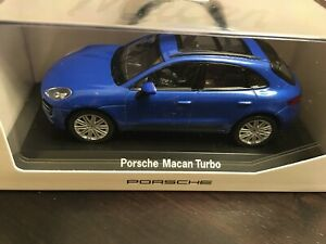 Porsche Macan Sapphire Blue Metallic Welly 1:43 MAP 01995015 New in Box