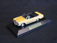 Faller Mercedes-Benz 280 SE 3.5 Cabriolet 1:43 Yellow / Black Interior (JS)