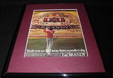 1983 E&J Brandy Framed 11x14 ORIGINAL Vintage Advertisement