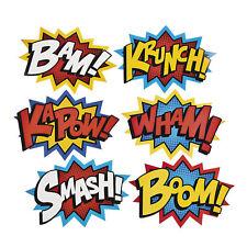 Fun Express Jumbo Superhero Word Cutouts