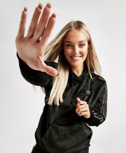 RRP £55 BNWT Adidas Originals Corduroy Hoodie Size 6 (oversized) Black