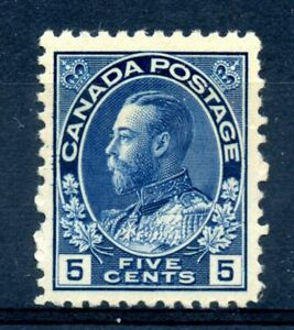 Canada 111 VF MNH 5c dark blue Admiral key value CV $900