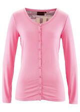 Figurbetonte Damenblusen, - tops & -shirts mit Rundhals-Ausschnitt aus Jersey