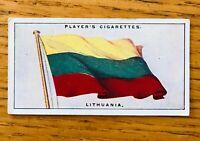Lithuania League Of Nations Flags 1928 John Player Cigarette Card Rare (B1)