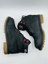 TImberland x Champion Nubuck Leather Boots Black High Top Great Condition .