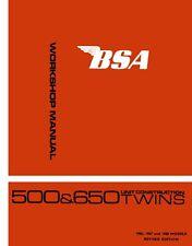 BSA A65 A50 Twins LIGHTNING THUNDERBOLT Spitfire WORKSHOP MANUAL 1966 1967 1968