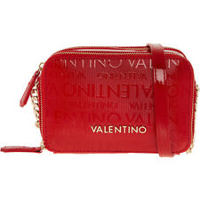 VALENTINO BY MARIO Red Patent Logo Cross Body Bag 100% Authentic New