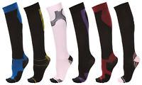 Unisex Knee High Athletic Compression Socks Women 15-20 mmHg