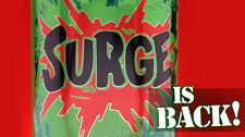Surge Soda 12 Pack of 16oz cans Free Shipping Brand New Sealed case