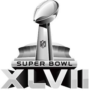 Super bowl 47 XLVII Football Helmet Decal Sticker Ravens 49ers