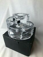 Orrefors Quartet Crystal Votive Candle Holders In Original Box