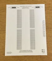 Avaya 1416 1616 Phone Paper Desi Replacement Labels One Sheet