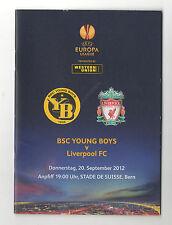 Orig.PRG   Europa League  2012/13  YOUNG BOYS BERN - LIVERPOOL FC  !!  SELTEN