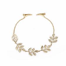 1xStylish Women Lady Rhinestone Chain Headband Hair Band Leaf Hair Clip Jewelry