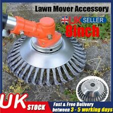 8 Inch Grass Strimmer Head Trimmer Brush Lawn Mower Solid Steel Wire Wheel Weed