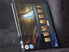 Iron Man Steelbook [Blu-ray] Marvel -- Zavvi -- Lenticular -- Top -- Rarität