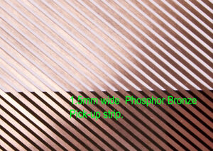 8 pieces of 1.5mm wide phosphor bronze loco power pick-up strip. 180mm lengths.
