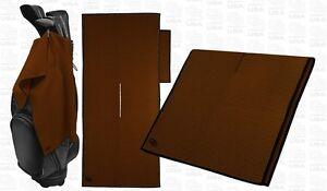 Club Glove Tandem Caddy Towel including pocket towel - Mocha