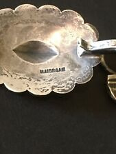 Sterling Silver Butterfly Southwestern Navajo Concho belt signed Harry Morgan