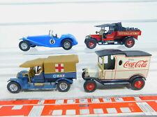 BY369-1# 4x Matchbox Modell: Y-3 Riley + Y-13 Crossley + Y 12 Ford, sehr gut