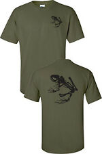 Navy Seals Skeleton Frog Printed Front and Back Military Men's Tee Shirt  717