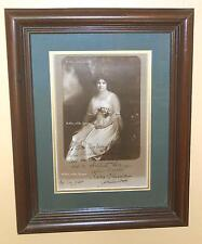 REDUCED Price! SIGNED!!! PHOTOGRAPH of CLARA CLEMENS, daughter of MARK TWAIN!