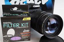 PL-CB 2x Telephoto Zoom Lens For Canon Eos Digital Rebel t5i sl1 t3i xti  t4i
