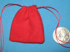 """RED FLANNEL BAG -2"""" X 2""""-- MOJO/ GRIS-GRIS"""