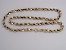 "9ct Gold Rope Chain    Length 24""    36.8gm    0.7cm Wide  Secondhand"