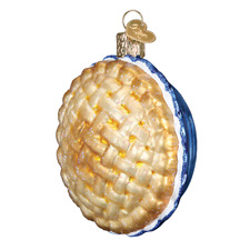 Old World Christmas Apple Pie (32343)X Glass Ornament w/ Owc Box
