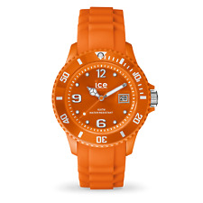 Ice Watch SI.OE.U.S.09 Ice Forever Orange Dial Silicone Analog Unisex Watch NEW
