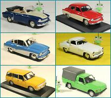 1:43 Wartburg 353 tourist Pick-Up 311 Coupe 312 313 Sport DeAgostini GDR USSR