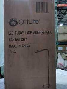 49 in. to 71 in. Black Natural Daylight LED Flex Floor Lamp by OttLite