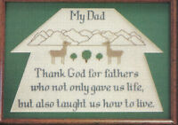 My Dad Sampler Cross Stitch Pattern Chart from magazine Fathers give us life