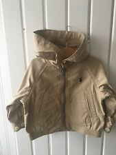 Baby Boy's Clothes 6-9mths - Beige Hooded Zip Up Jacket By RALPH LAUREN 9 Mths